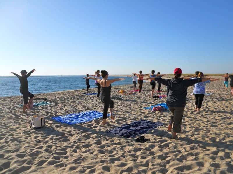 Yoga on the beach in Chatham MA