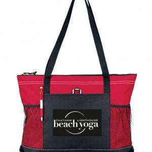 Chatham Beach Yoga Tote - red