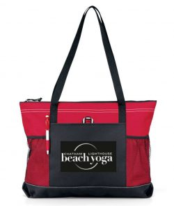 Chatham Beach Yoga Tote - red